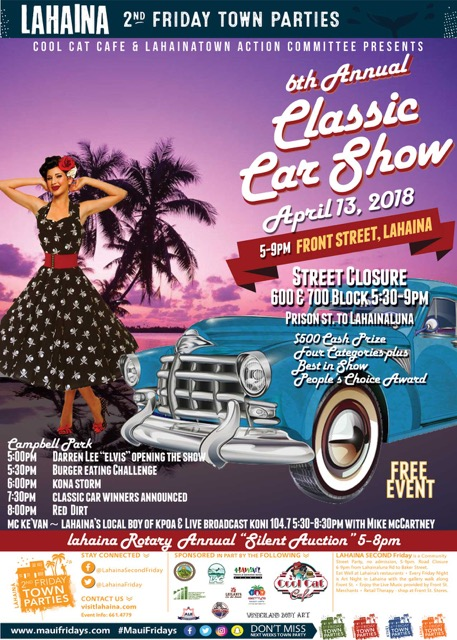 Classic Car Show Presented By Cool Cat And Lahaina Town Action - Car show award categories